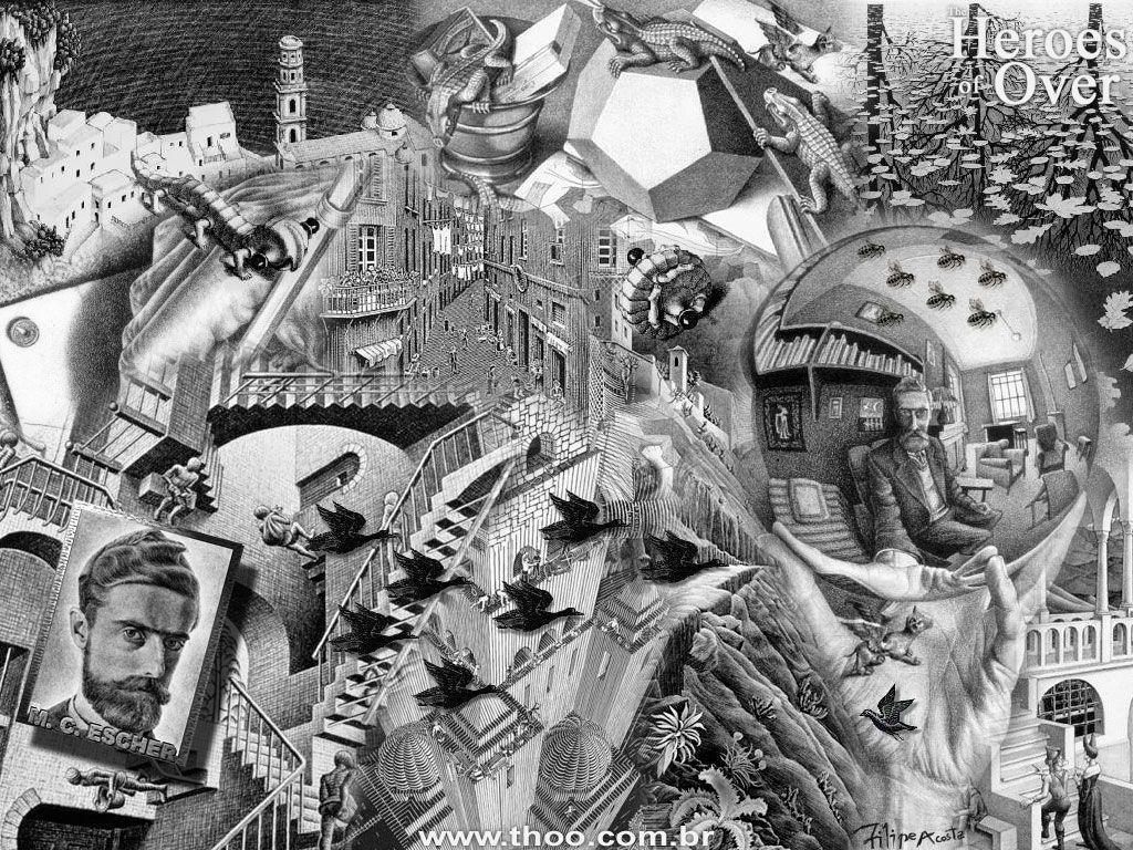 The Strange Worlds of M C Escher