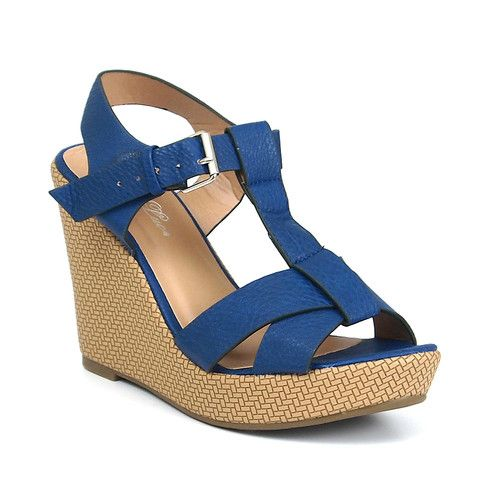 """Womens Shoes Platform Wedge 4"""" Heel Sandals Open Toe Ankle Strap Padded Sole New 