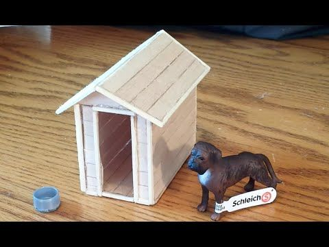 how to make a schleich dog house / kennel - youtube | dollhouse