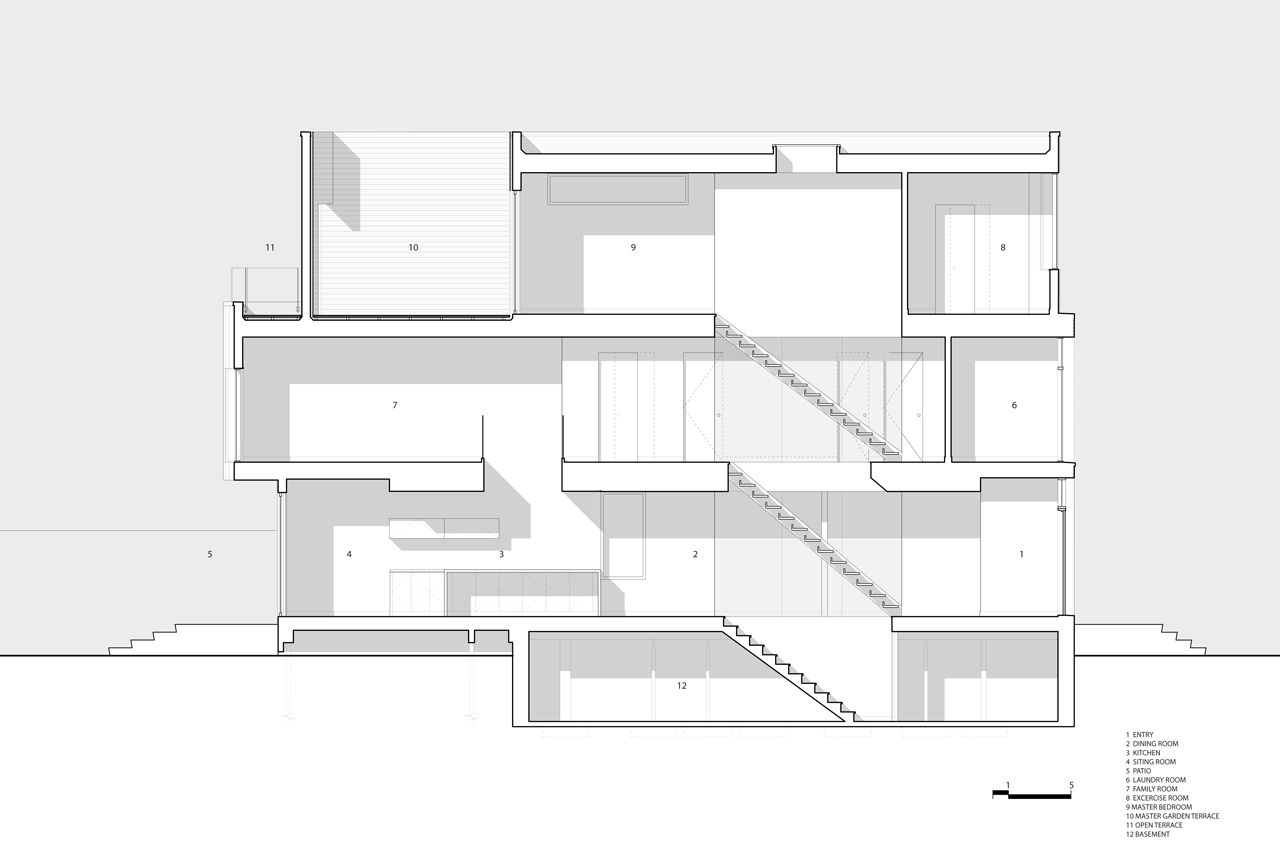 Bca Glebe Residence Architectural Section Architect House Contemporary House