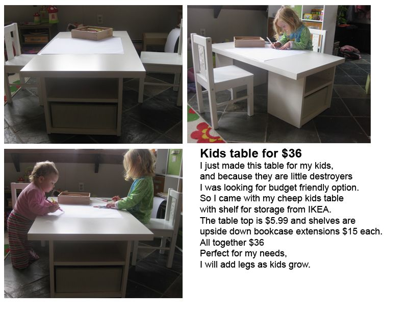 Ikea Hack Table Top Book Shelves Kids With Storage Could Also
