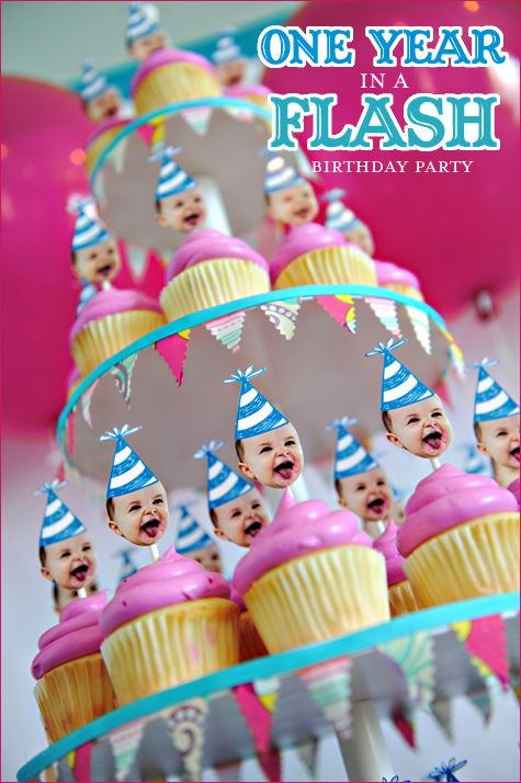 Cupcake Toppers FUNNY 1year Old Birthday Party 1 Year Cake