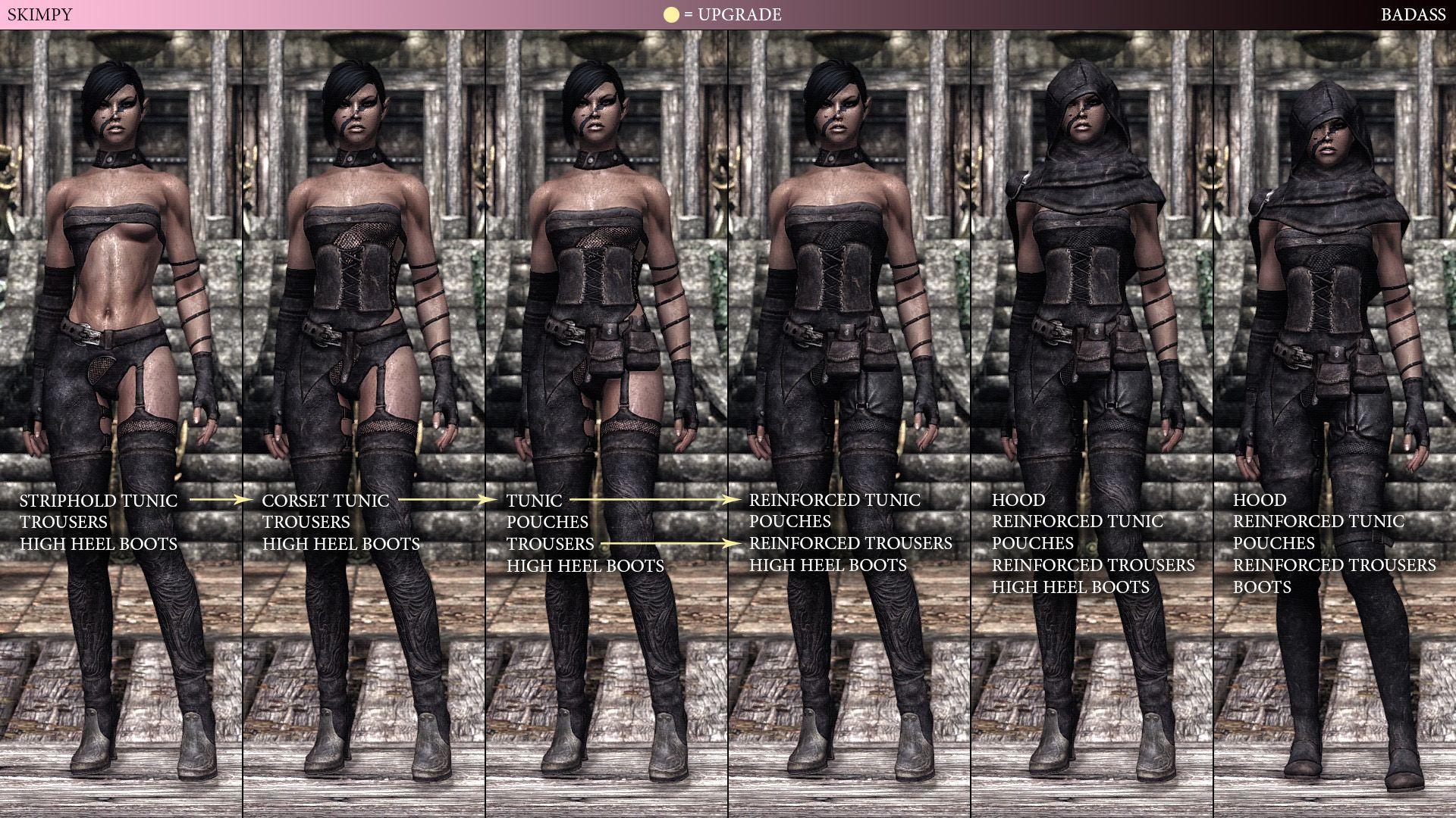 Tembtra Thief Armor UNP - CBBE at Skyrim Nexus - mods and