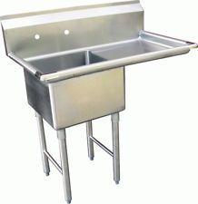 1 Compartment S Utility Prep Sink 18 X24 X14 Right Drainboard Nsf Sh18241r