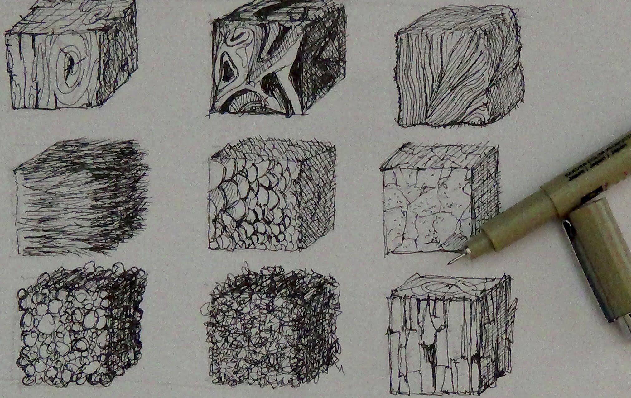 Фактура картинки карандашом