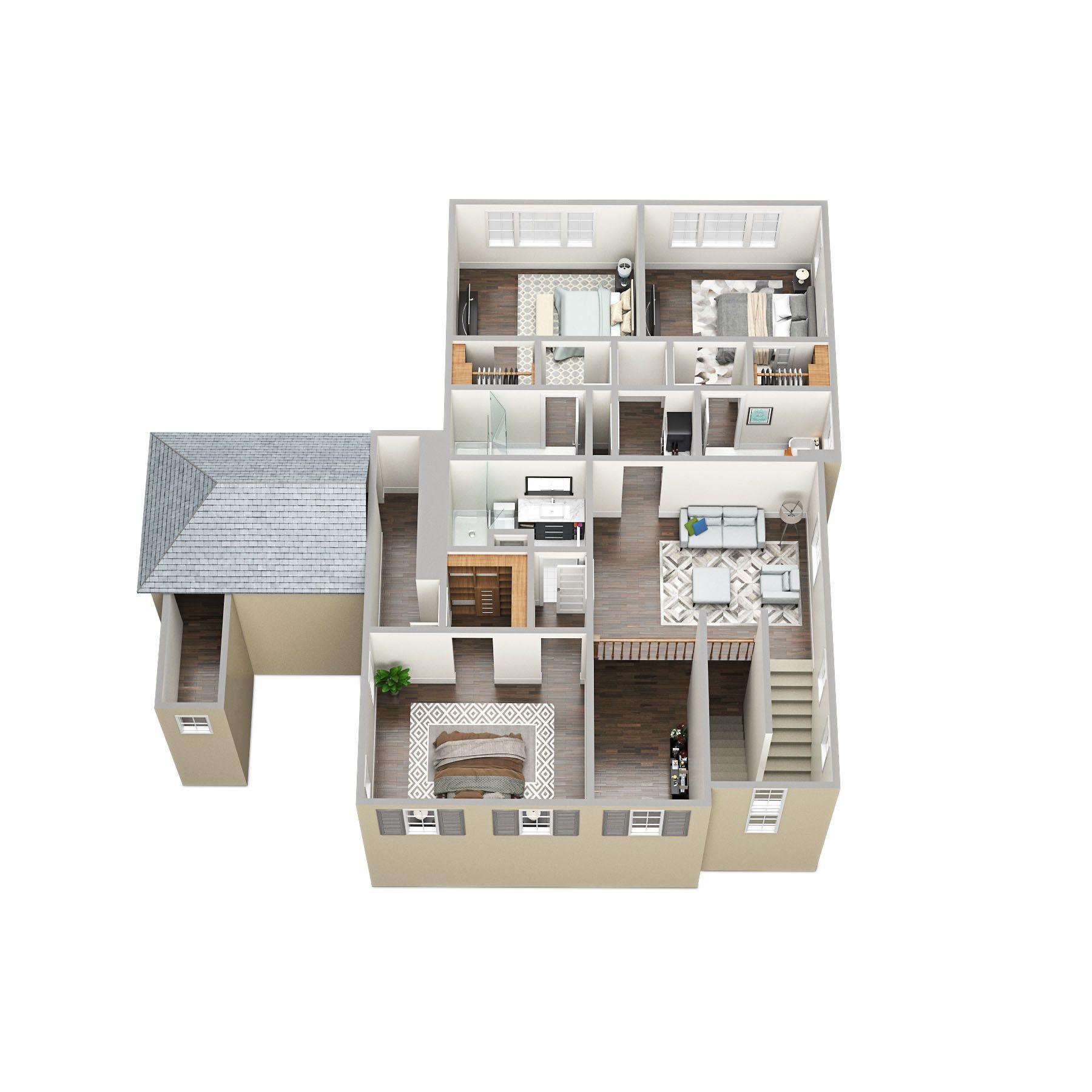Weston 2 Nd Floor 3d Floorplan Sawyersound Floor Plans 2 Storey House Design House Map