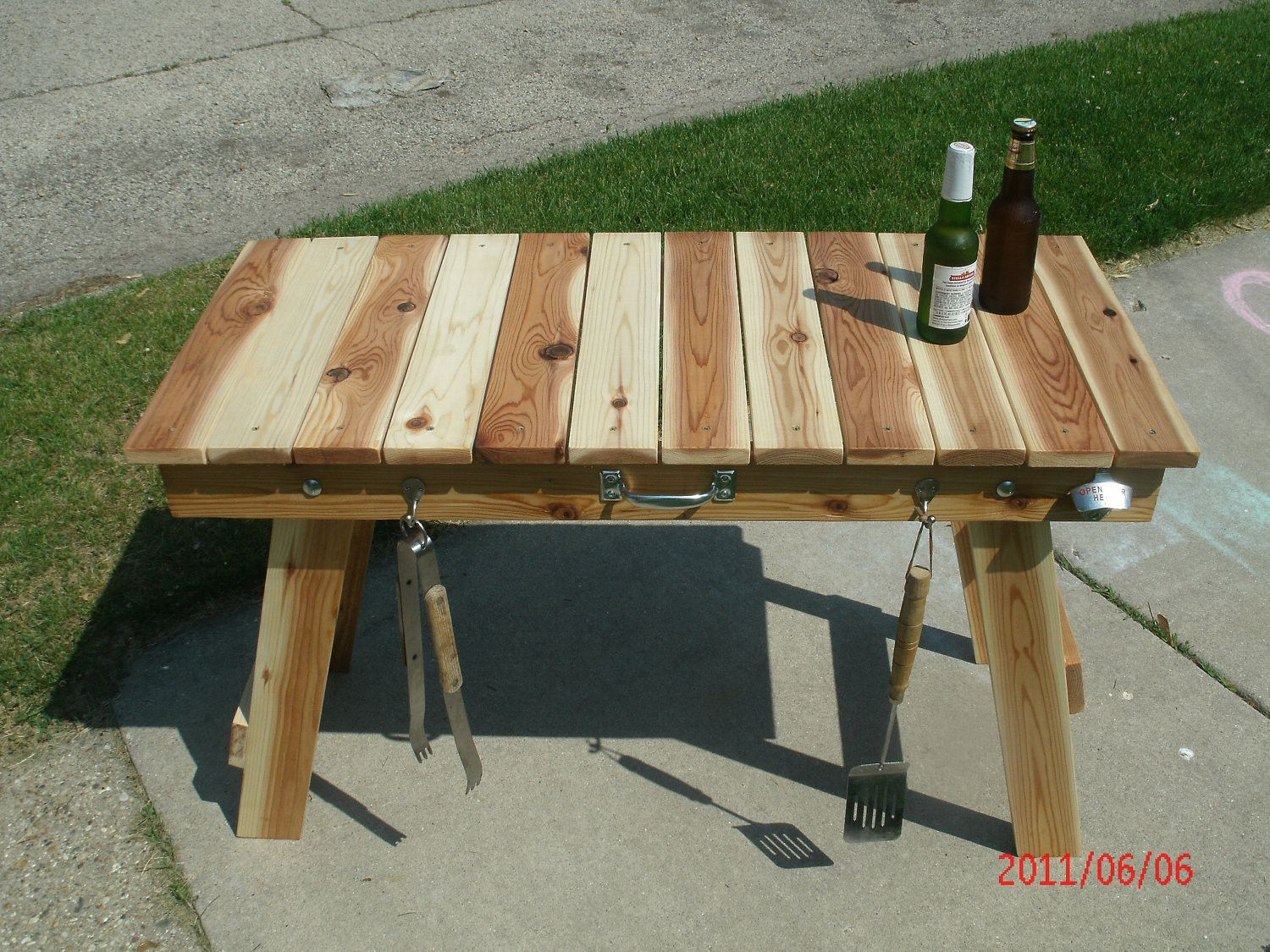 Folding Grill Table | Grill table, Camping table, Wood grill