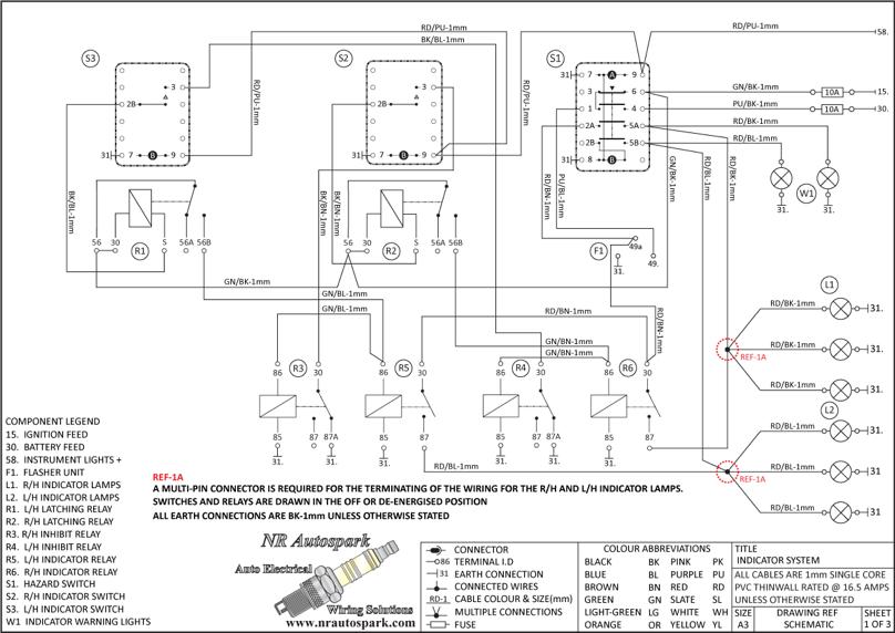 NR Autospark - Vehicle Indicator System Wiring Schematics | Auto ...