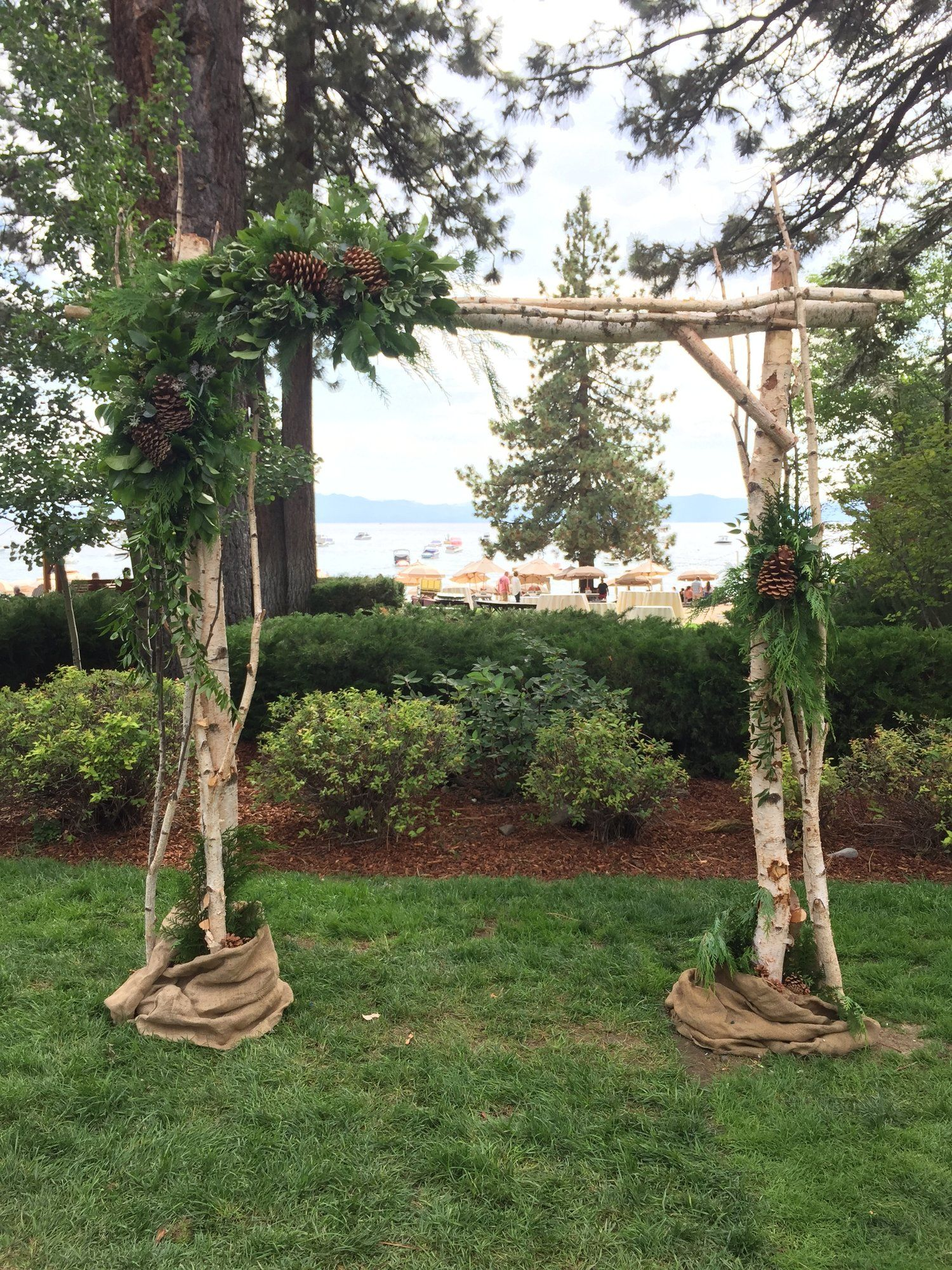 Arches birch arbor in 2020 fall wedding arches