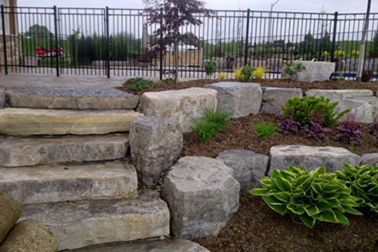Armour Stone Retaining Wall Google Search Landscaping 400 x 300