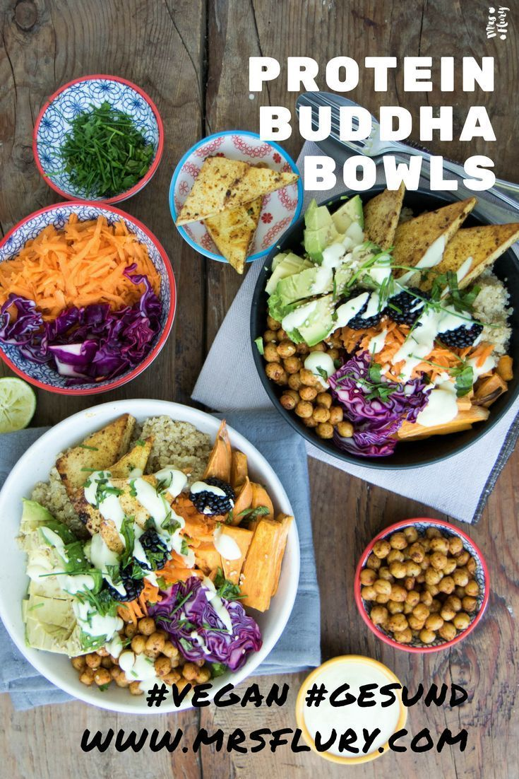Protein Buddha Bowl vegan - Mrs Flury - gesund essen & leben #veganerezepte