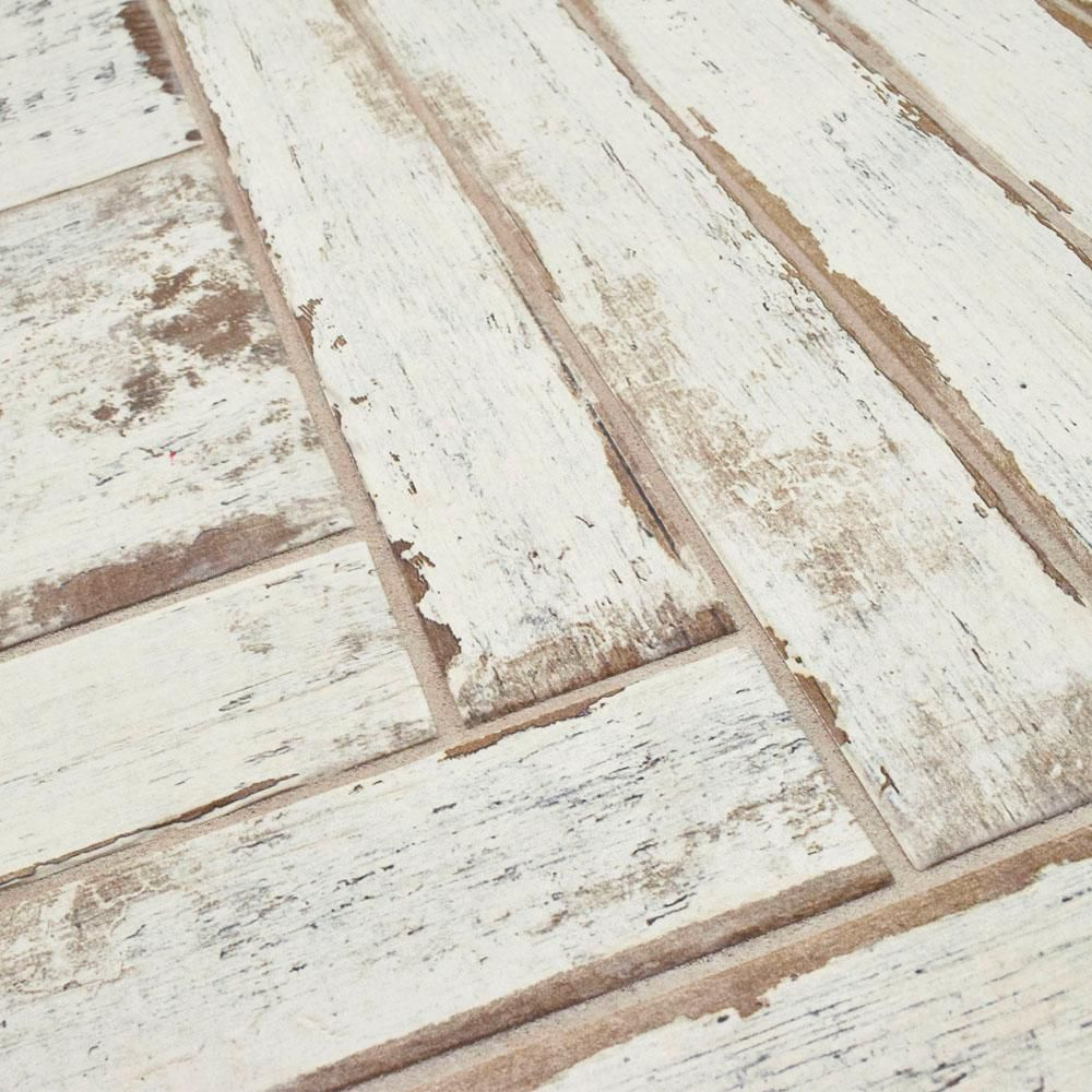 Merola Tile Retro Blanc 2-3/4 in. x 23-1/2 in. Porcelain Floor and ...