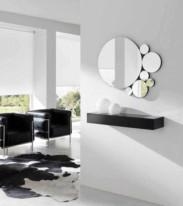 Espejos modernos de madera bob mobiliario de dise o en - Espejos redondos pequenos ...