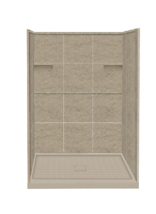 Alcove 10 Peice 34 X 48 X 75 Shower Wall Kit With Shower Base