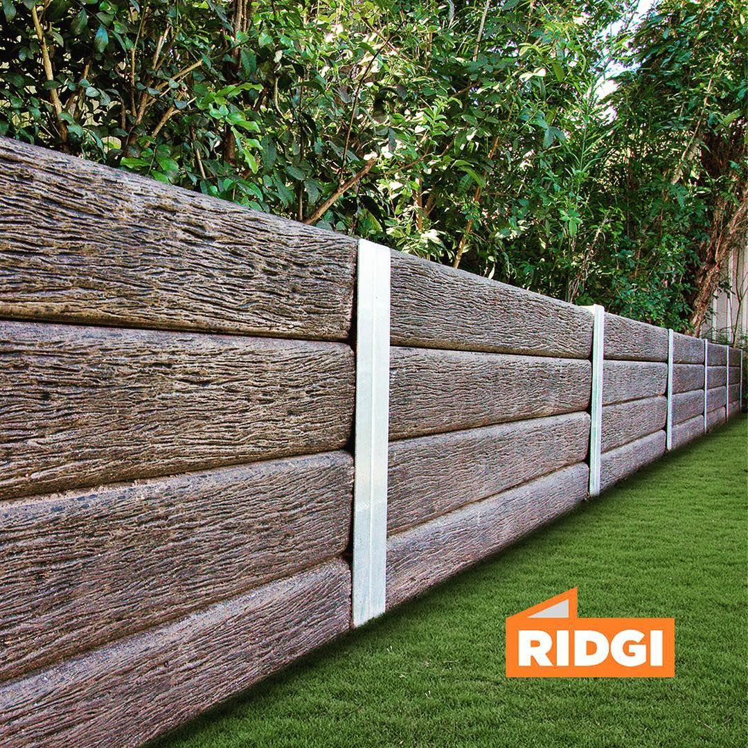 No Trees Were Harmed To Create This Wall Amazing New Aussie Design Termite Resist Concrete Sleepers Concrete Retaining Walls Landscaping Retaining Walls