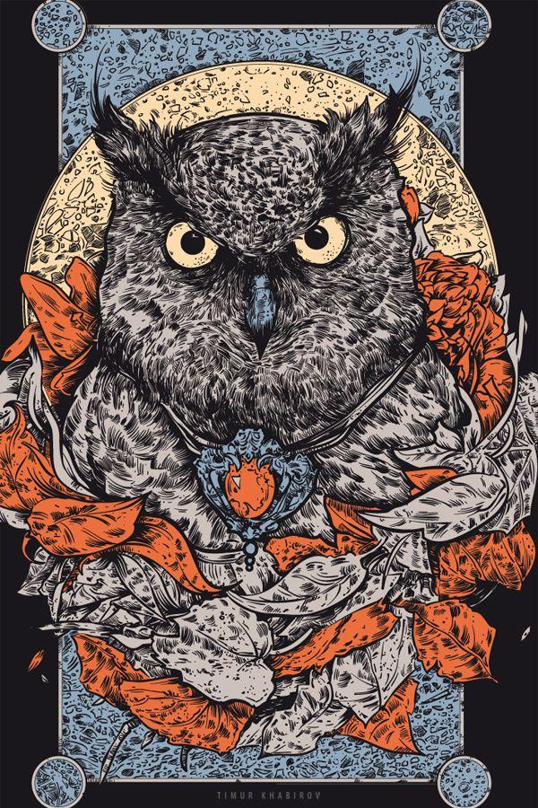 Serious! owl on Behance.