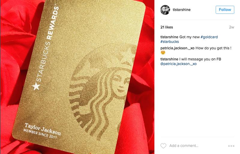 starbucks rewards gold card finally | North Wind | Starbucks