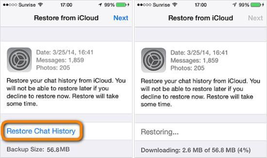 recover whatsapp message from icloud backup | iOS Data