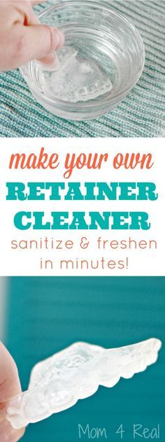 DIY Retainer Cleaner and Sanitizer. Gross but necessary.