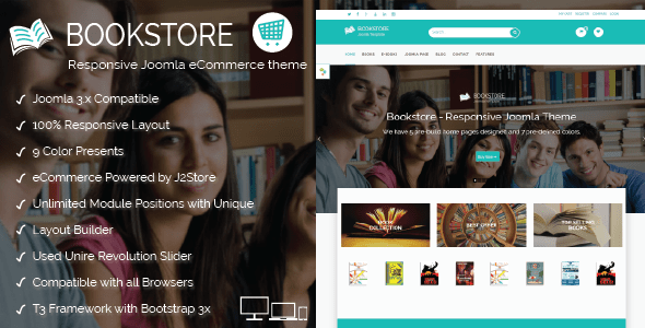 book store - responsive joomla ecommerce theme . book store is a, Powerpoint templates