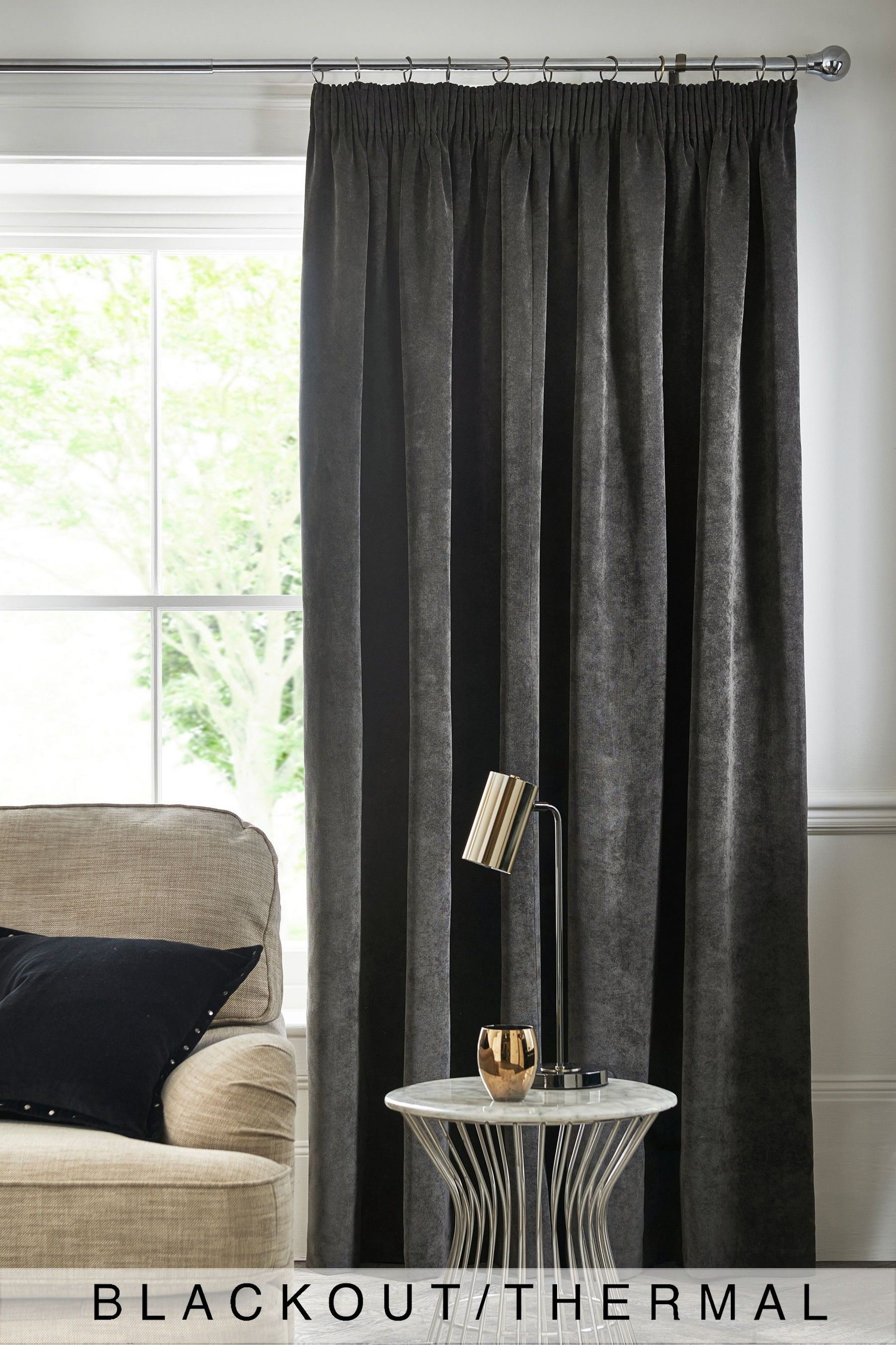 Buy Soft Velour Curtains From The Next Uk Online Shop Curtains Lined Curtains Grey Velvet Curtains