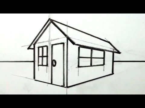 ▶ How to Draw a House in 3D for Kids - Easy Things to Draw ...