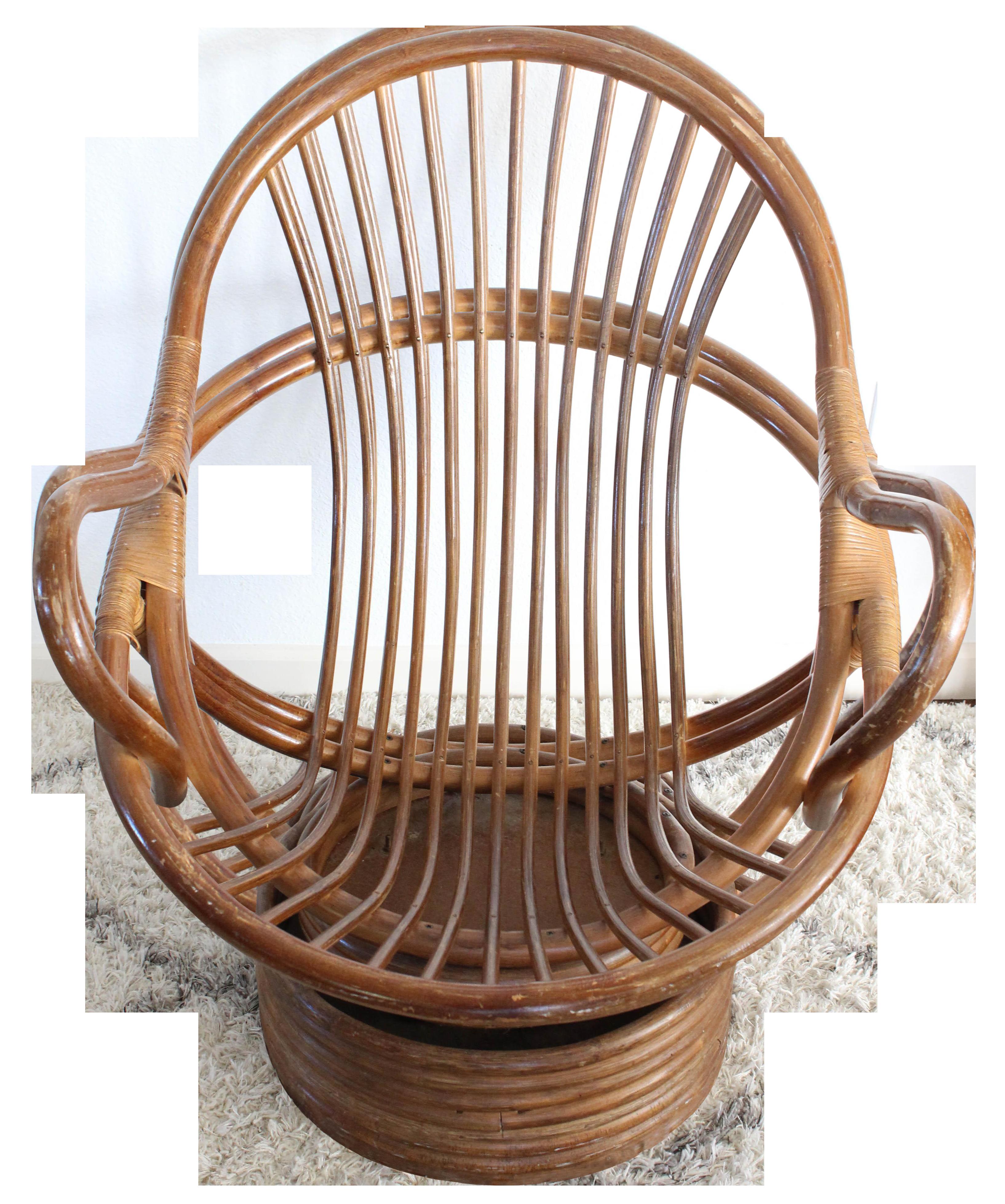 Vintage Rattan Swivel Chair Chair Swivel Chair Outdoor Dining Chair Cushions