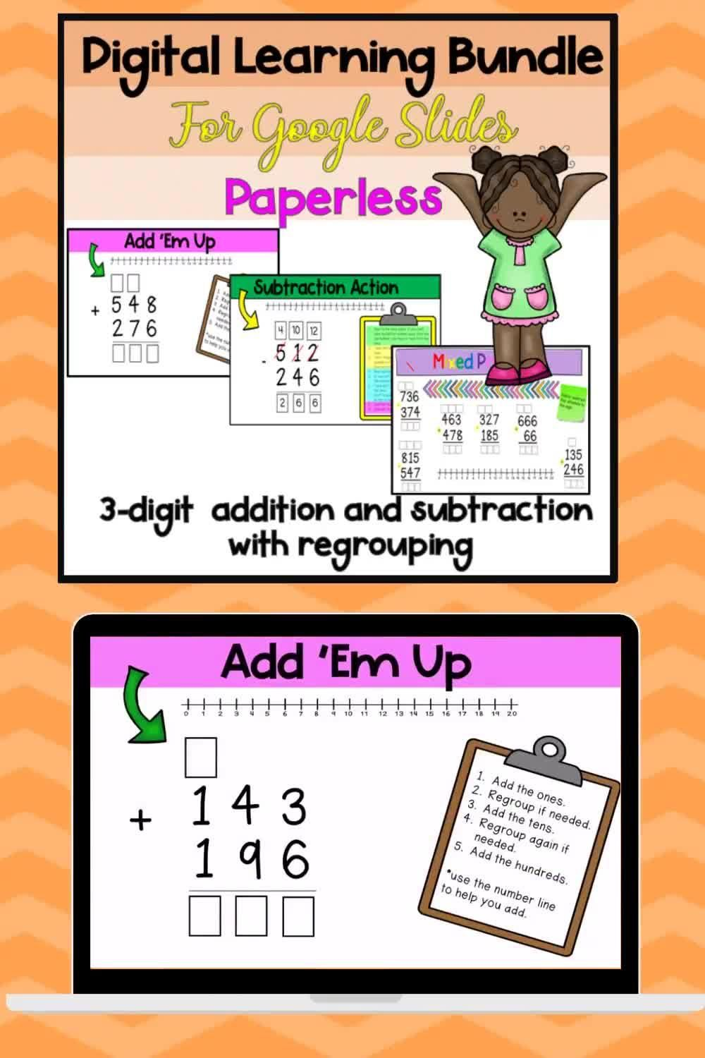 3 Digit Addition With Regrouping Worksheets Elephant Jokes Digital And Print 2nd Grade Math Worksheets Math Practice Worksheets Math Center Activities