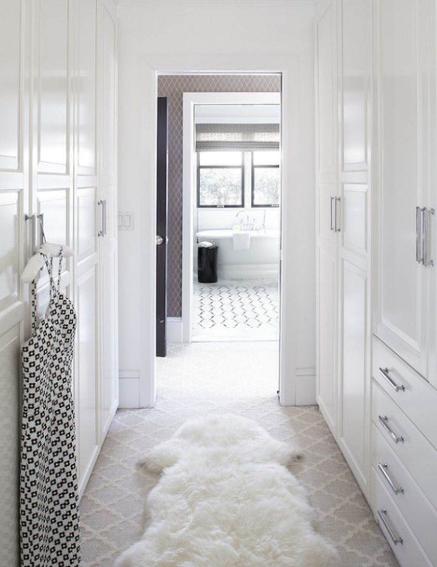 Walk Through Wardrobe To En Suite Closets Shelves