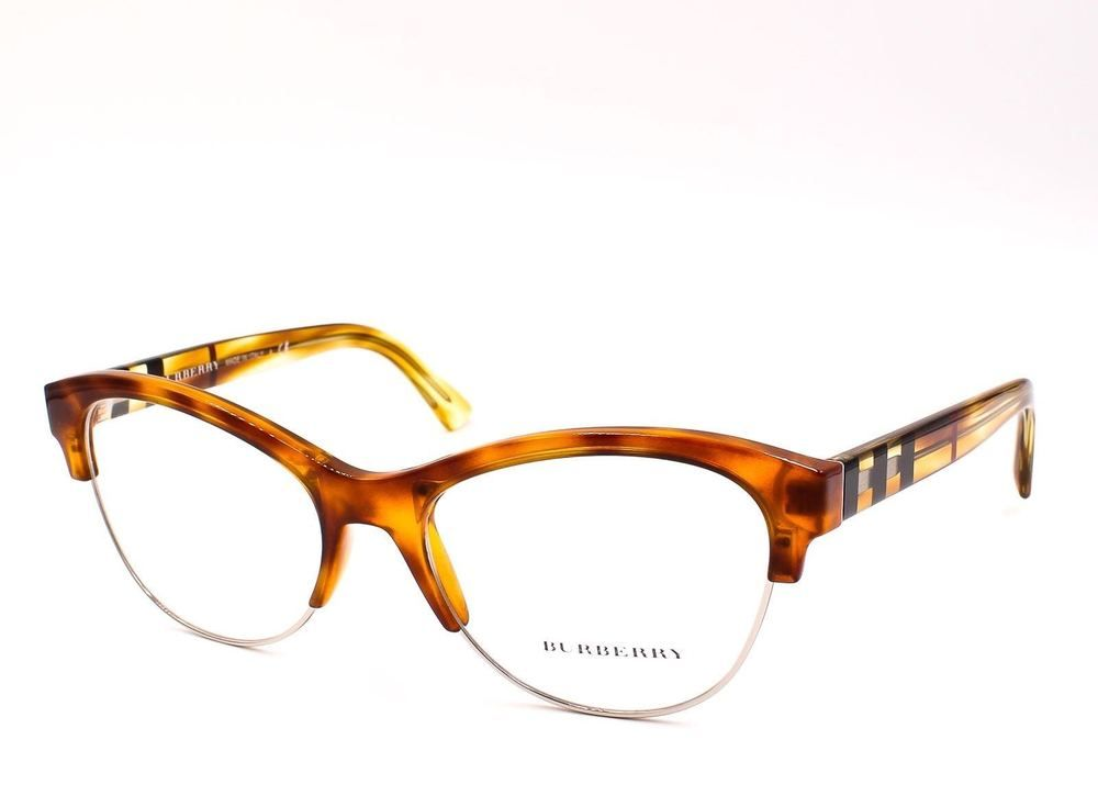 477fc01e92 NEW AUTHENTIC BURBERRY B2235 3605 Light Havana Women Cat Eye Eyeglasses  53mm