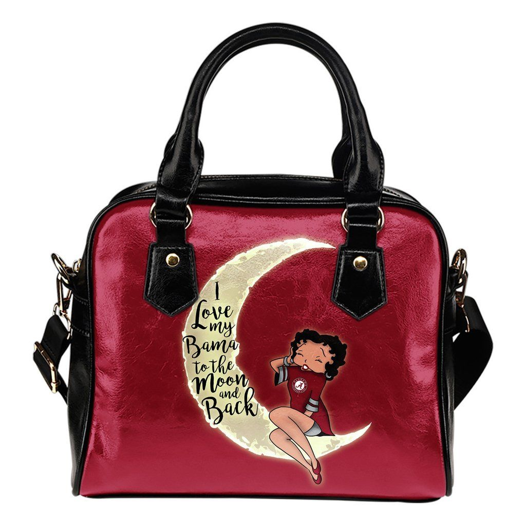 I Love My Alabama Crimson Tide To The Moon And Back Shoulder Handbags – Best Funny Store