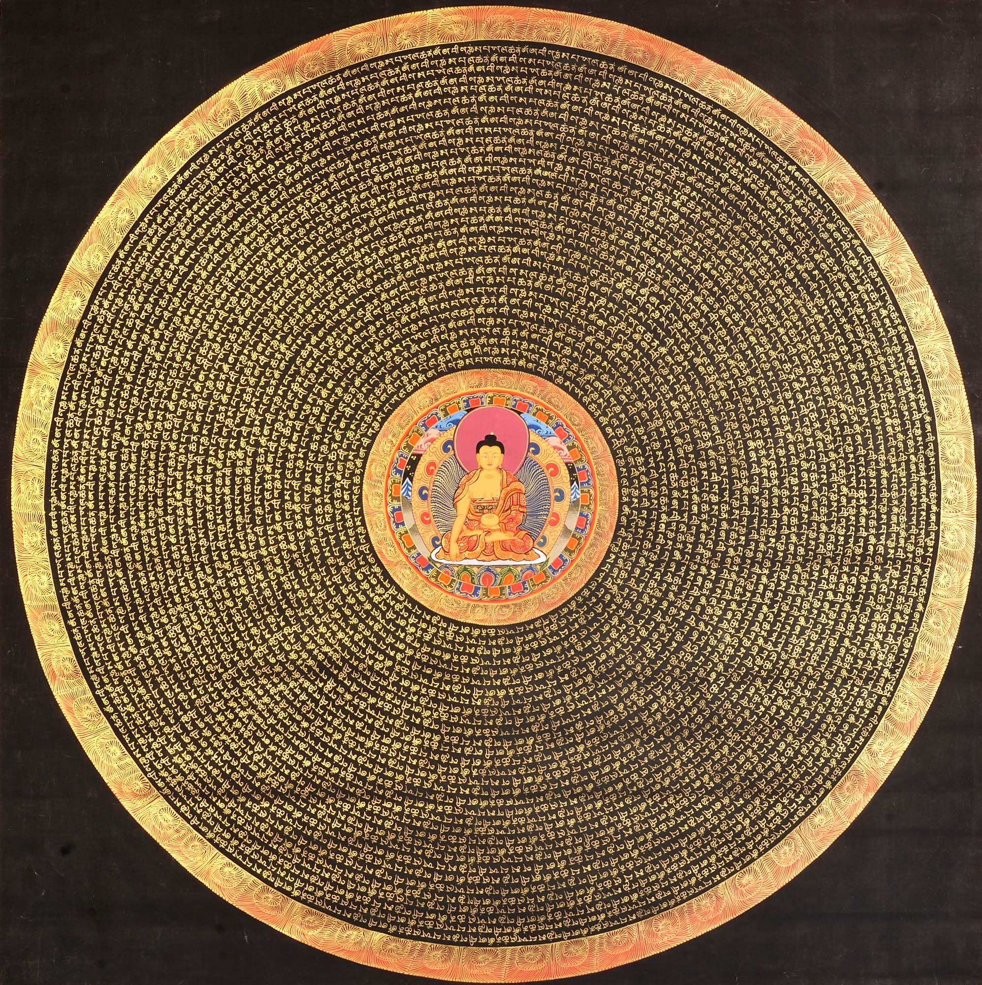 Super Large Mandala of the Buddha (Tibetan Buddhist