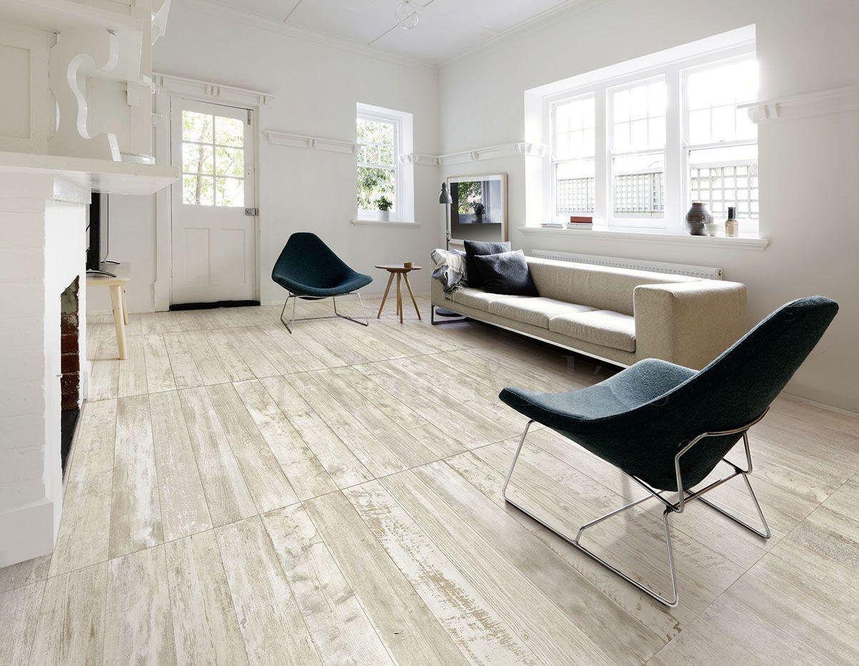 Aspect vieux plancher blanchi en carrelage carrelage for Carrelage imitation plancher