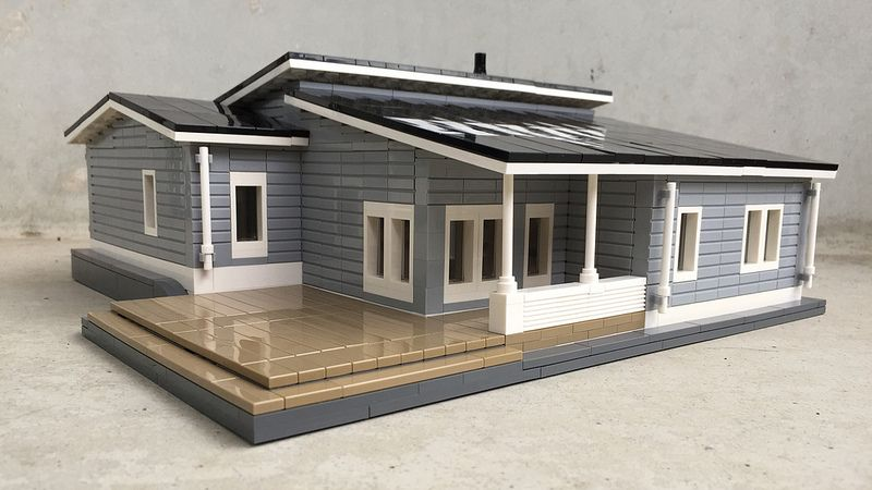 Hi, This model of a modern Finnish wooden house was built on