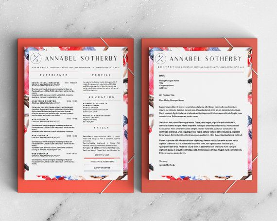 Get 3 beautiful resume templates with 3 beautiful cover letter - sophisticated resume templates