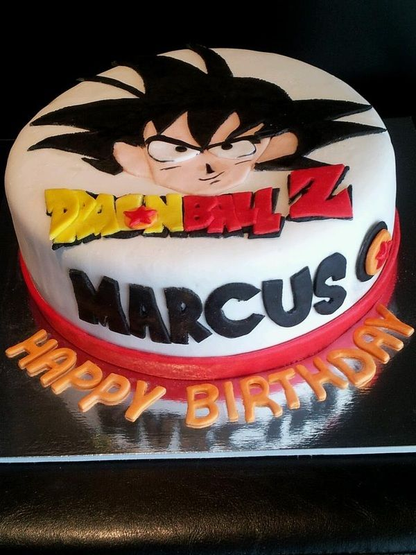 Dragonball Z Goku Cake Dragonball Z Cake Goku Birthday Anime Cake