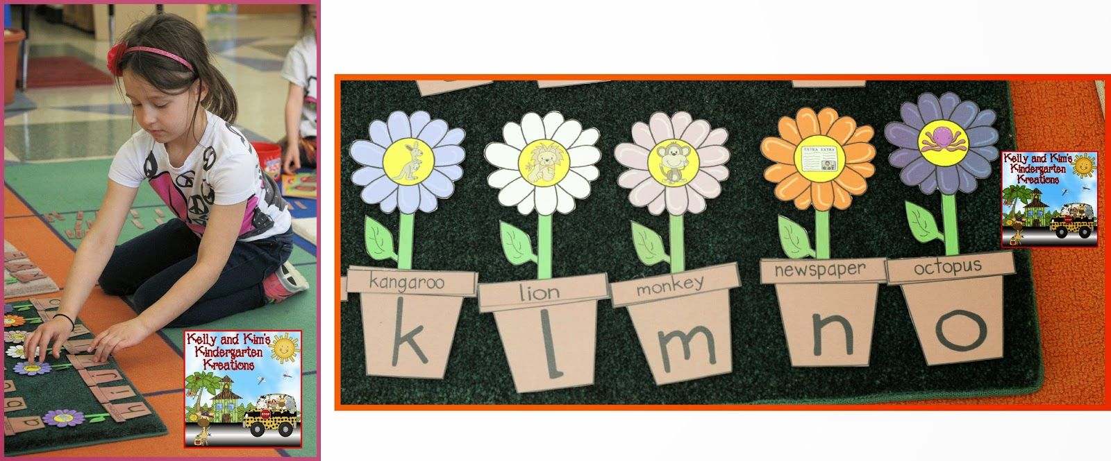 Blooming Beginning Sounds Literacy Center