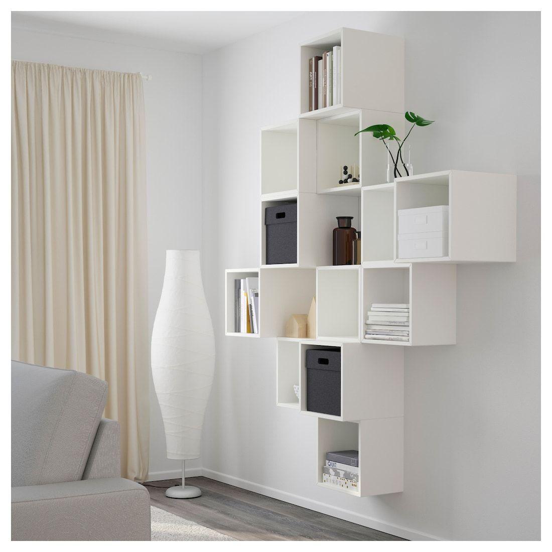 Eket Wall Mounted Cabinet Combination White Length 27 Learn More Ikea In 2020 Cube Furniture Wall Mounted Cabinet Ikea Eket