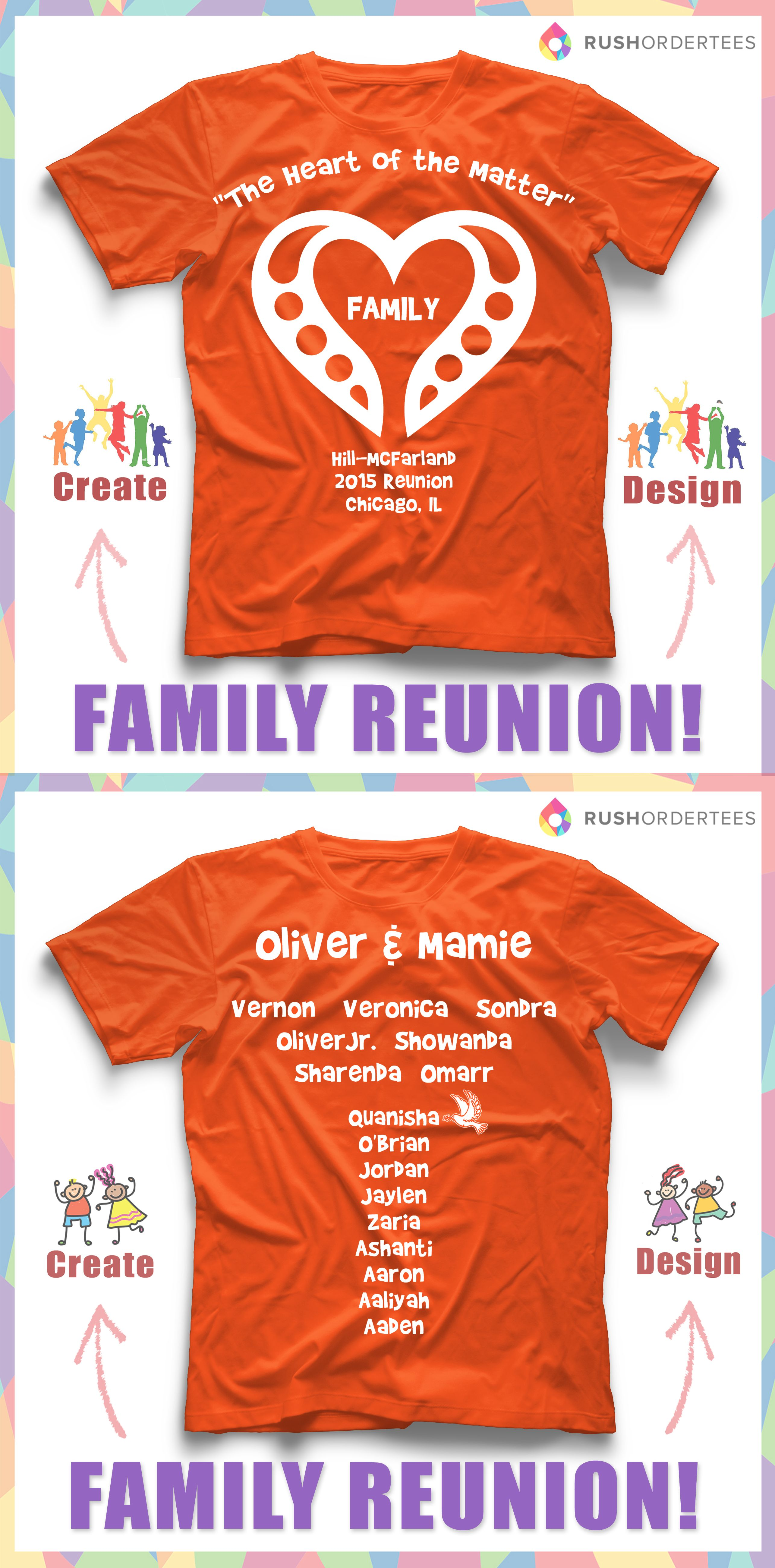 Love this family reunion custom t-shirt design idea! Create ...