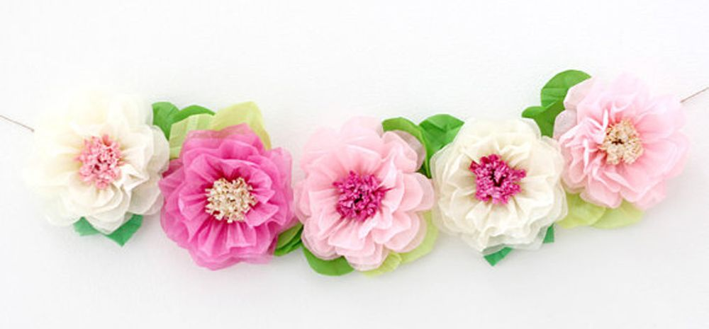 Nursery garland decor pinterest flower garlands cot and nursery flower garland from super mama song shop on etsy such a great above the crib wall decor for a baby girl nursery mightylinksfo