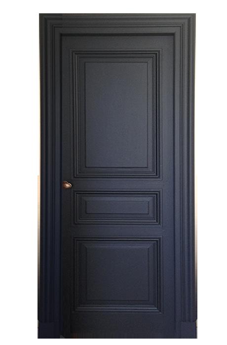 Porte 3 panneaux style haussmann peinte http www for Porte haussmannienne