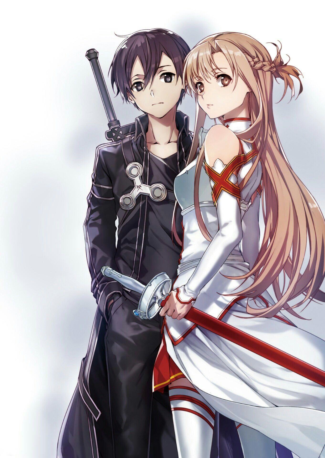Kirito e Asuna in 2020 Sword art online asuna