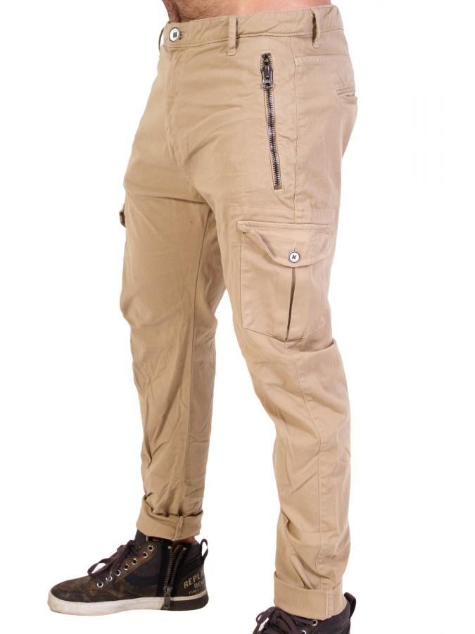 STEFAN Ανδρικό fashion cargo militer παντελόνι  aae5ab2877a