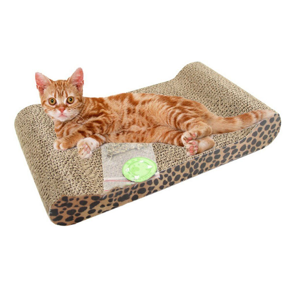 Hecoribe Lovely Pet Cat Scratch Bed Scratching Board Protect Cat Paw Furniture  Cat Litter Catnip New
