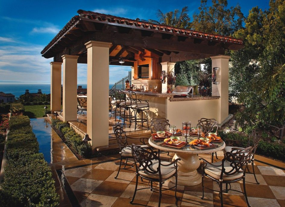 outdoor stone dining table top furniture beautiful diamond patterned tile floor positioned majestic bar pavilion showrooms