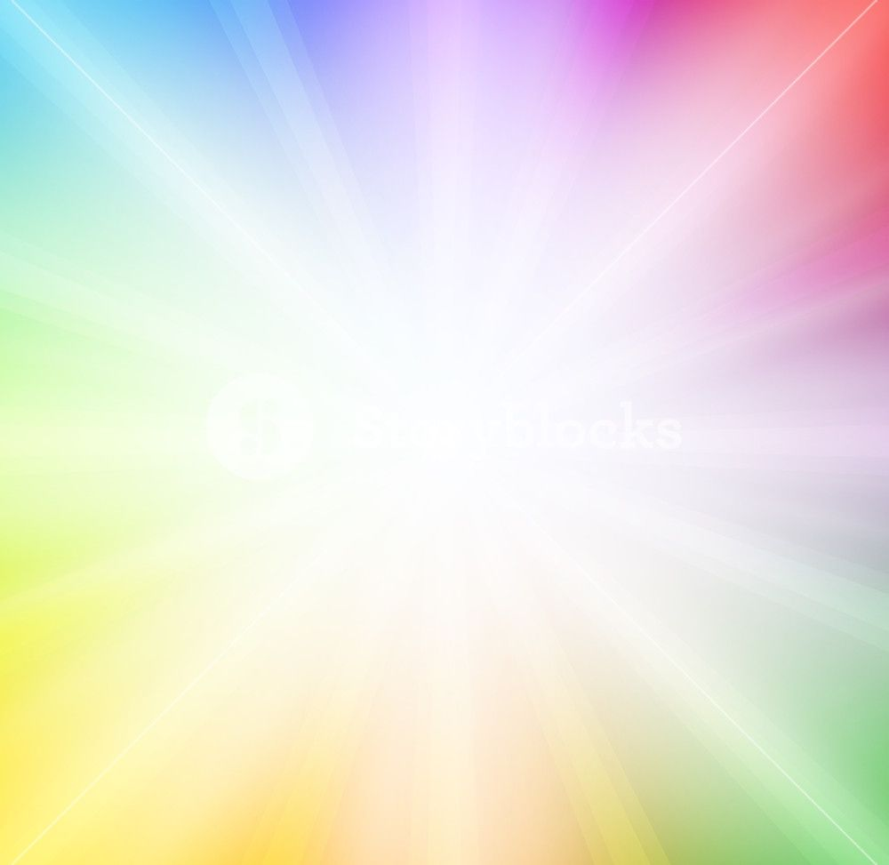 Soft Rainbow Background With Bright Light Rainbow Background