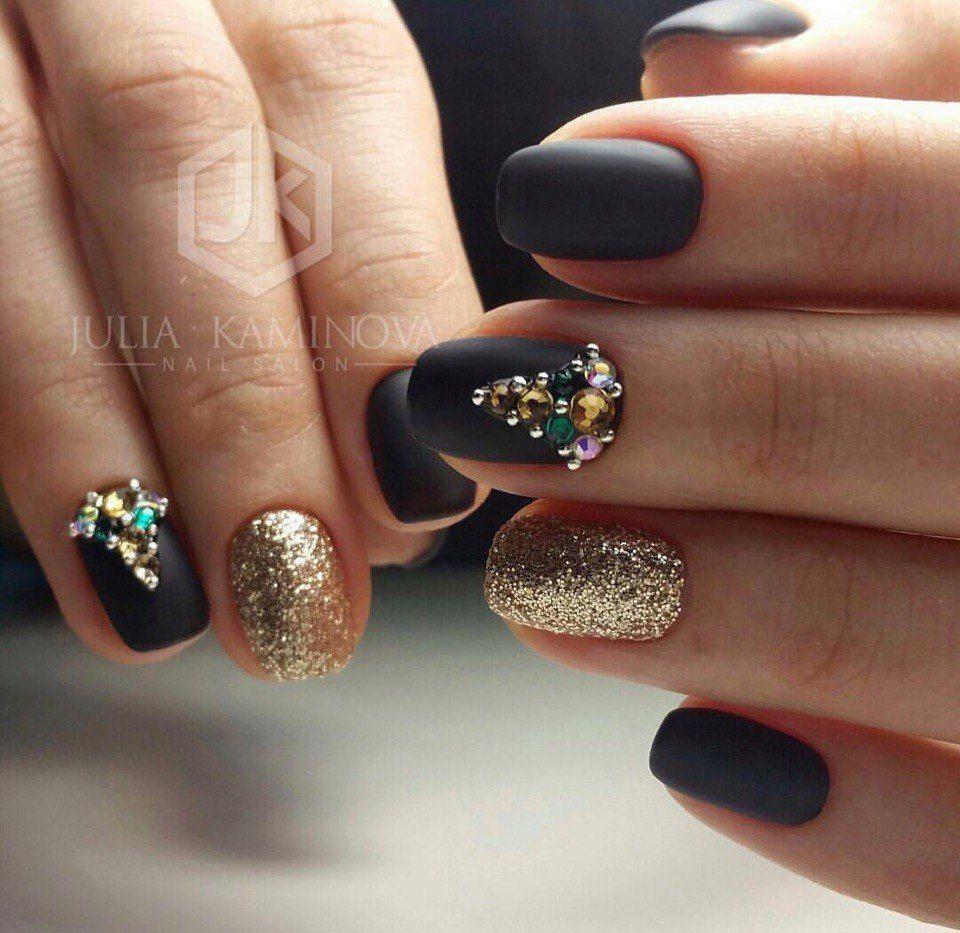 Nail Art #3007 - Best Nail Art Designs Gallery | Matte black nails ...
