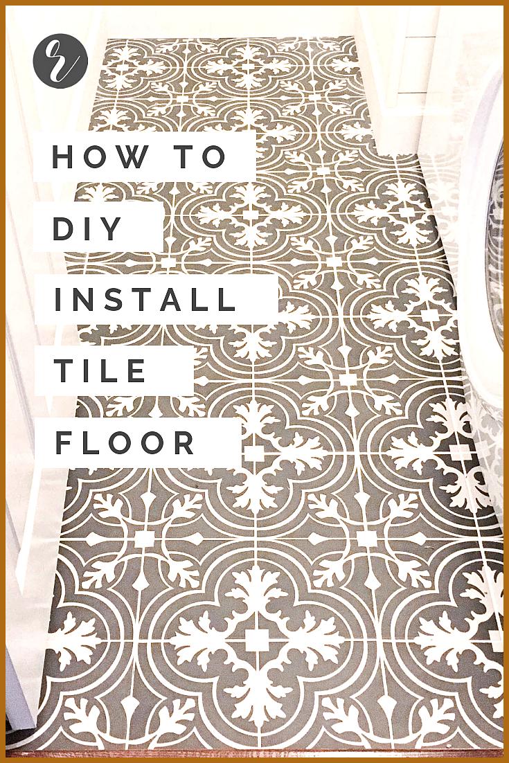 How To Diy Install Floor Tile Learn How To Diy Install Flooring Tile Demo Linoleum Removal Mixing Mortar 038 Grout In 2020 Tile Floor Floor Installation Tile Floor Diy