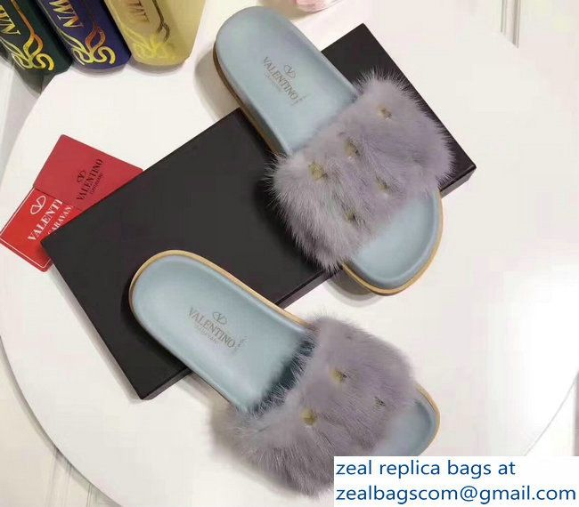 Valentino 2017 Mink Fur Sandals get authentic online free shipping amazing price adb72yHjl8