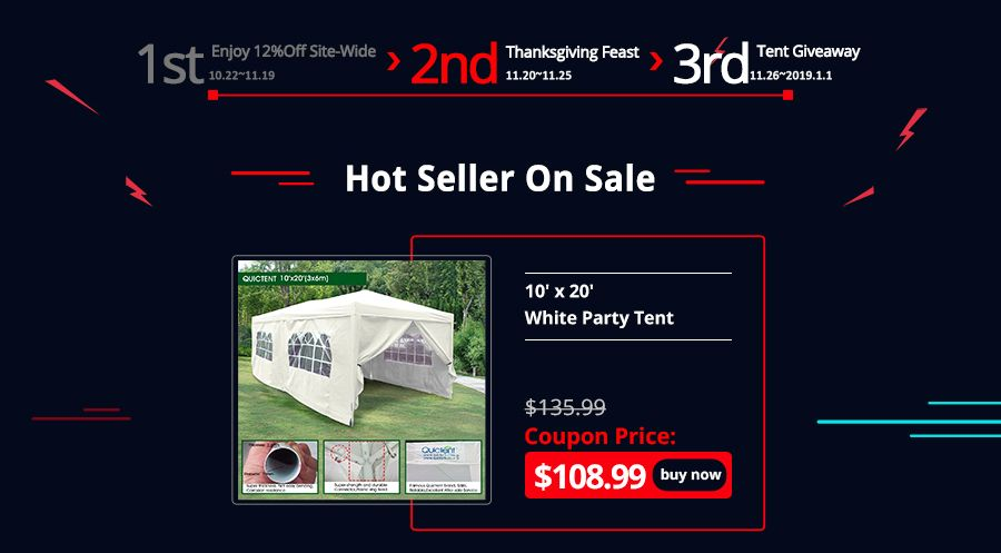 Black Friday Treats Enjoy Extra 20 Off Site Wide Party Tents For Sale Party Tent Enjoyment